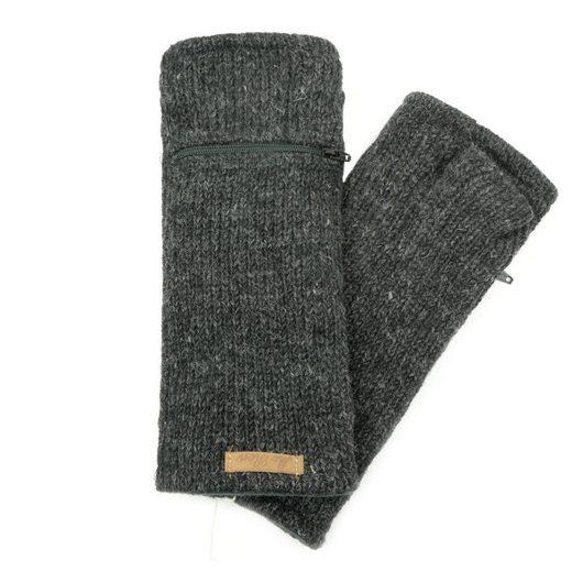 McRon Armstulpen »Pulswärmer Modell Irma« mit Fleece gefüttert, mit Daumen, verschließbares Geldfach auf der Oberseite