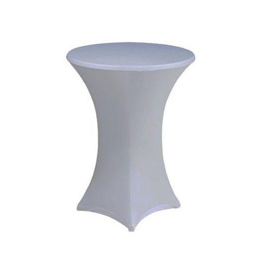 Stehtischhusse, dynamic24, Premium Gastro Stretch Tisch Husse für Stehtische Ø 60-70cm Bistrotisch Stehtisch Überwurf Tischdecke
