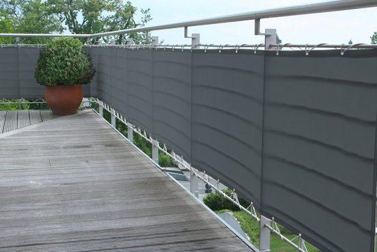 FLORACORD Balkonsichtschutz BxH: 500x90 cm, anthrazit