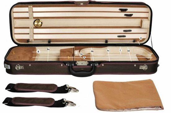 Steinbach Violinen-Koffer »Steinbach 4/4 Geigenkoffer Rechteckmodell braunbeige mit Rucksackriemen«