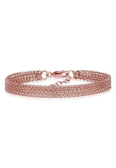Elli Armband »Breit Glieder Basic Silber 925«