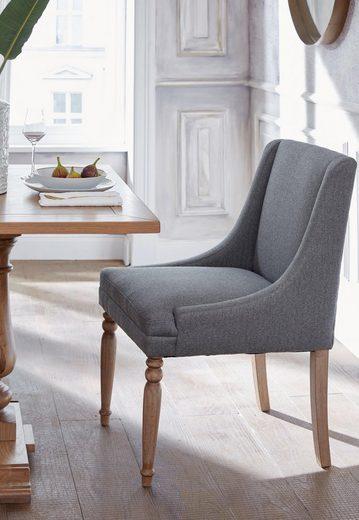 Guido Maria Kretschmer Home&Living 4-Fußstuhl »Davit« mit schöner Sitzpolsterung und geschwungenen, anliegenden Armlehnen
