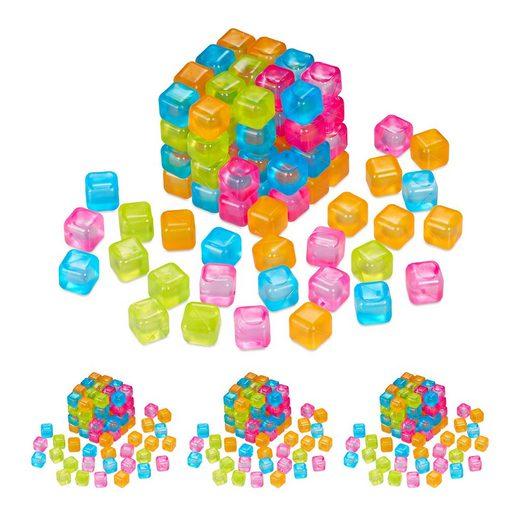 relaxdays Eiswürfelform »400 x Wiederverwendbare Eiswürfel bunt«
