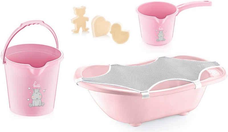 Babyjem Babybadewanne »pink«, (Set, 5-tlg), Made in Europe