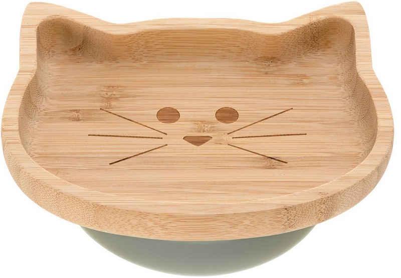 LÄSSIG Teller »Little Chums, Cat«, mit Saugnapf