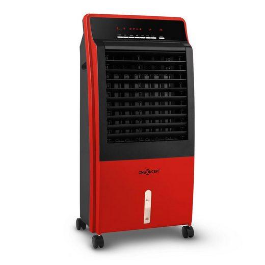 ONECONCEPT Ventilatorkombigerät CTR-1 4-in-1 Luftkühler Ventilator Luftbefeuchter Luftreiniger 360 m³/h 65 Watt 8 Liter 3 Geschwindigkeiten Oszillation Ionisator Fernbedienung mobil