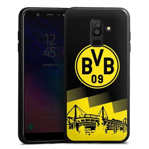DeinDesign Handyhülle »BVB Two Tone« Samsung Galaxy A6 Plus (2018), Hülle BVB Borussia Dortmund Stadion