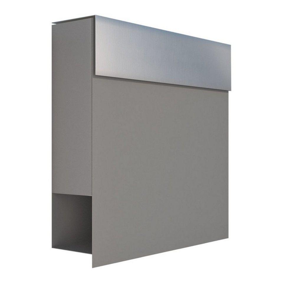 Bravios Briefkasten »Briefkasten Manhattan Grau Metallic mit ...