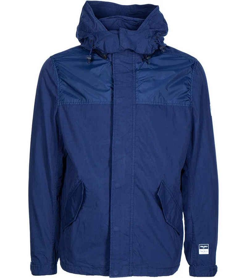 Pepe Jeans Regenjacke »Pepe Jeans Aubrey Übergangsjacke Herren Regen-Jacke mit abnehmbarer Kapuze Wander-Jacke Blau«