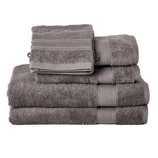 Komfortec Badetücher »Handtuch Set aus 100% Weich Baumwolle, Doppel Bordüren,Frottee, Saugfähig, Schnelltrocknend« (6-St)