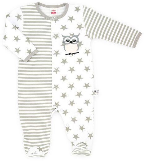 Makoma Strampler »Baby Schlafstrampler für Mädchen Rosa Eule«