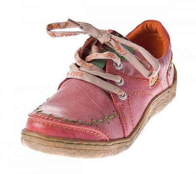 TMA »Damen Leder Schuhe Sneaker Halbschuhe TMA 1646« Schnürschuh Achtung! Sohlenfarben können variieren, Used Look