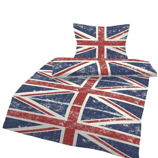 Bettwäsche »England Flagge«, One Home, Union Jack Vintage