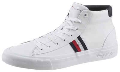 Tommy Hilfiger »CORPORATE MIDCUT LEATHER SNEAKER« Sneaker mit Logoschriftzug in der Laufsohle