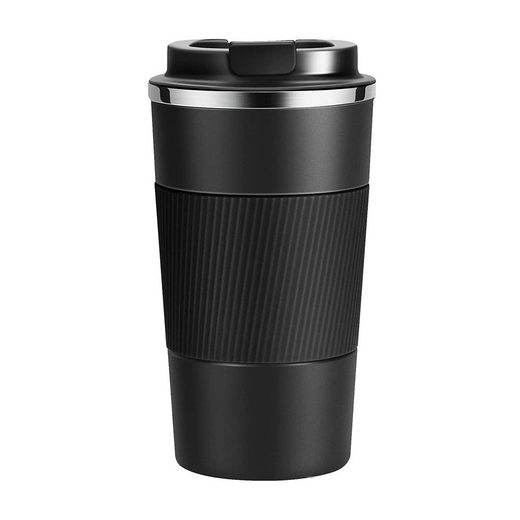 kueatily Espressotasse »Thermische Tasse Thermoskanne Isolierte Tasse Kaffeebecher Wasserflasche Kaffee zum Mitnehmen Tasse Edelstahl Reisebecher Getränkehalter Auto Vakuum Auslaufsichere Reisebecher mit Deckel Autotasse 510 ml«, Edelstahl