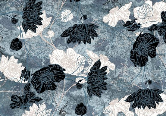 Consalnet Fototapete »Türkiser Blumen Mix«, floral