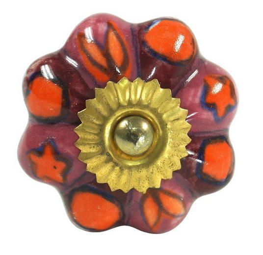 Guru-Shop Möbelknopf »Möbelknopf Rose aus Keramik, Möbelknauf..«