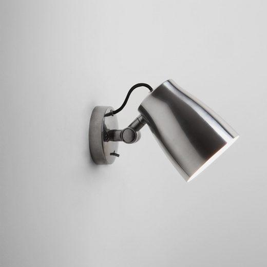 click-licht Deckenspot »Wandleuchte Atelier in Aluminium-Poliert E27 185mm«, Deckenstrahler, Deckenspot, Aufbaustrahler