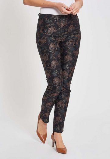 LauRie Slim-fit-Jeans »Laura« mit floralem Print