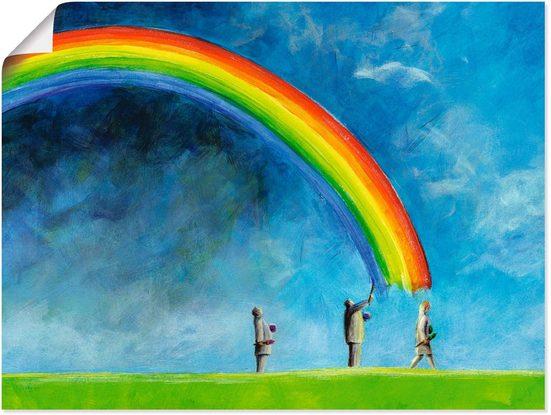 Artland Wandbild »Regenbogen malen«, Gruppen & Familien (1 Stück)