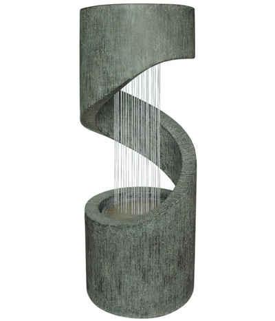 Dehner Gartenbrunnen »Mali mit LED, ca. 79.5 x 31.5 cm, Polyresin, grau«