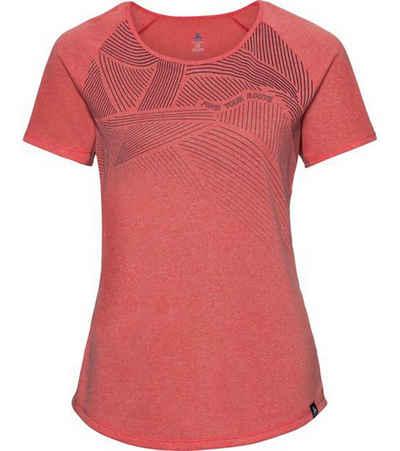 Odlo Funktionsshirt »odlo Sport-Shirt leichtes Damen T-Shirt mit Climate-Technologie Rundhals-Shirt Rot«