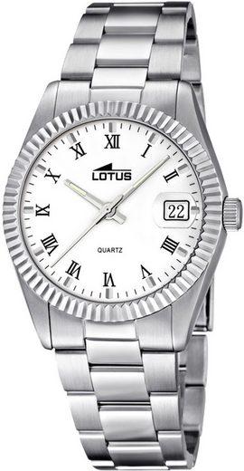 Lotus Quarzuhr »UL15822/1 Lotus Damen Uhr Fashion L15822/1«, (Analoguhr), Damen Armbanduhr rund, klein (ca. 29,7mm), Edelstahlarmband silber