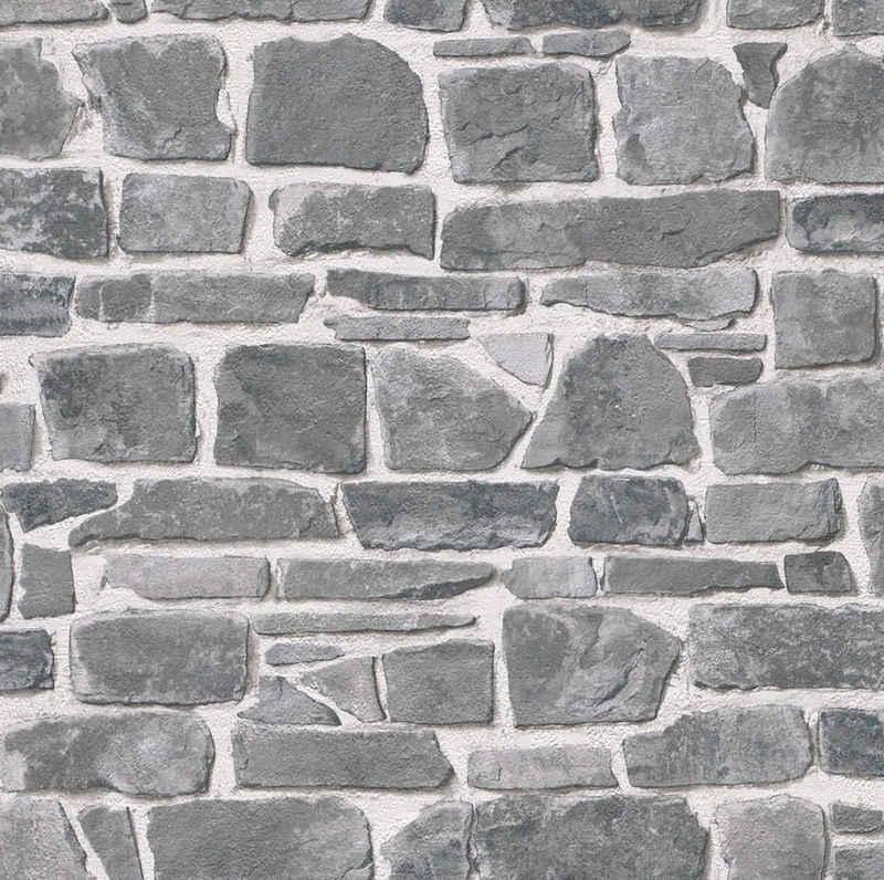 Rasch Papiertapete »Das Beste (2021)«, glatt, gemustert, Steinoptik, (1 St)