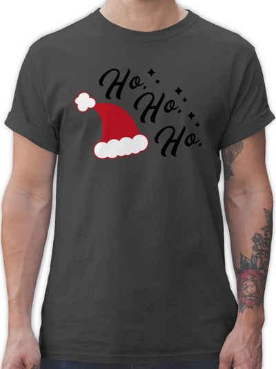Shirtracer T-Shirt »Ho Ho Ho - Santa Mütze - Weihnachten & Silvester - Herren Premium T-Shirt«