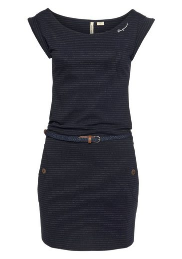 Ragwear Jerseykleid »TAG C ORGANIC O« im dezenten Ringel-Streifen-Design