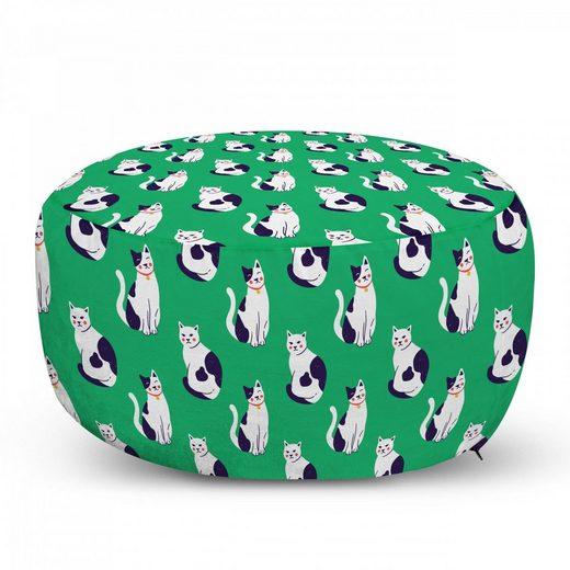 Abakuhaus Pouf »dekorative weiche Fußstütze und Reißverschlusshülle osmanisches Wohn-und Schlafzimmer«, Katze Kätzchen in verschiedenen Lustige Poses