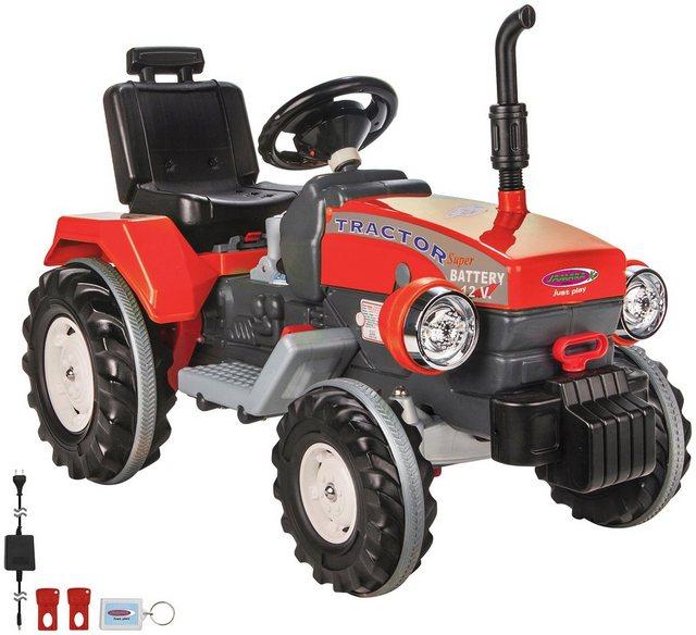 Elektrisches Kinderauto Trecker Power Drag Traktor *