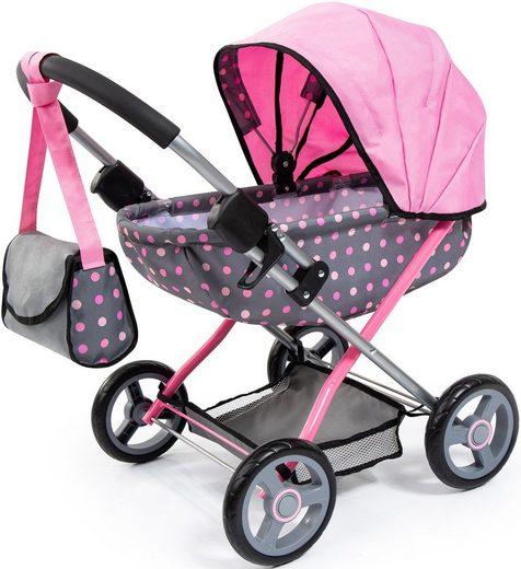 Bayer Puppenwagen »Cosy, grau/rosa«, mit Wickeltasche