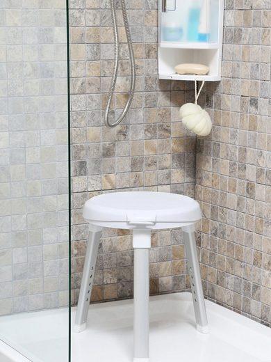 Duschhocker Dusch- und Badehocker, belastbar bis 149 kg, belastbar bis 150 kg