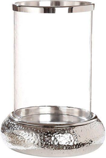 GILDE Windlicht »Doppio« (1 Stück), aus Aluminium mit Glas-Einsatz