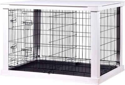 dobar Hundekäfig »Gitterbox Gr. L«, BxLxH: 73x110x76 cm, weiß