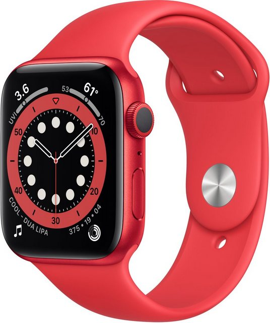 Smartwatches - Apple Series 6 GPS, Aluminiumgehäuse mit Sportarmband 44mm Watch (Watch OS 6, inkl. Ladestation (magnetisches Ladekabel)  - Onlineshop OTTO