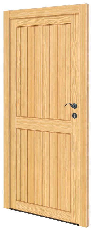 RORO Türen & Fenster Nebeneingangstür »OTTO 26«, BxH: 88x198 cm, Fichte, ohne Griffgarnitur