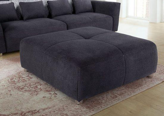 INOSIGN Hocker, mit Federkernpolsterung für kuscheligen, angenehmen Sitzkomfort im trendigen Design