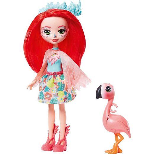 Mattel® Anziehpuppe »Enchantimals Fanci Flamingo & Swash Puppe«