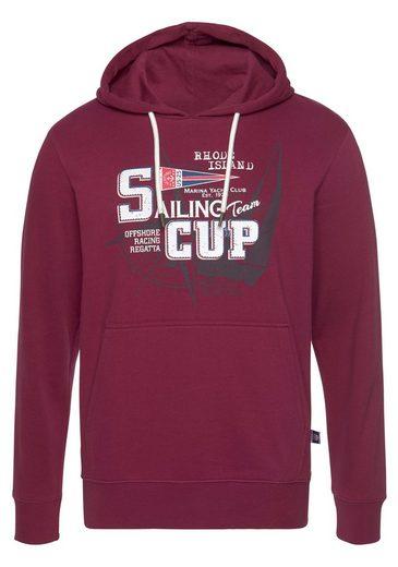 Rhode Island Kapuzensweatshirt mit Frontprint