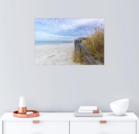 Posterlounge Wandbild, Ostsee Strand Fehmarn