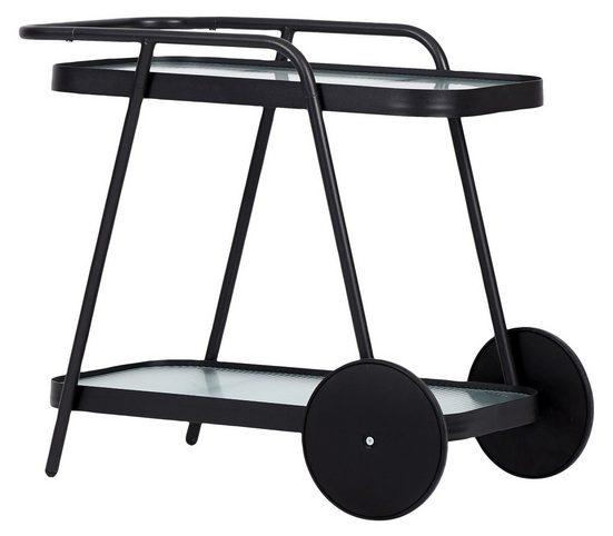 ebuy24 Gartentisch »Steam Servierwagen, schwarz und klare Streifen.«