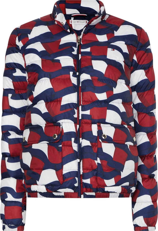 Tommy Hilfiger Steppjacke »Printed LW Padded Jacket« mit allover Print in den typischen Tommy Farben