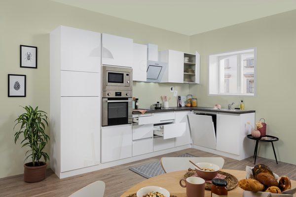 Winkelküche »Usedom«, mit E-Geräten, mit Soft-Close Funktion, Breite 345 x 172 cm