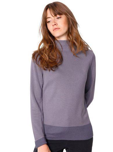 Creation L Pullover mit Saumabschluss in farblich abgestimmter Kontrastfarbe