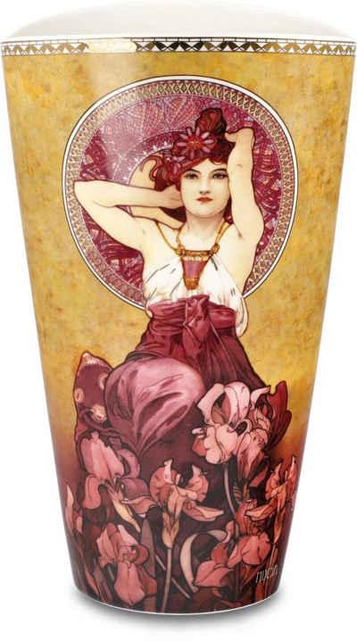 """Goebel Tischvase »Vase Alphonse Mucha - """"Amethyst""""« (1 Stück), aus Porzellan, Höhe ca. 24 cm"""