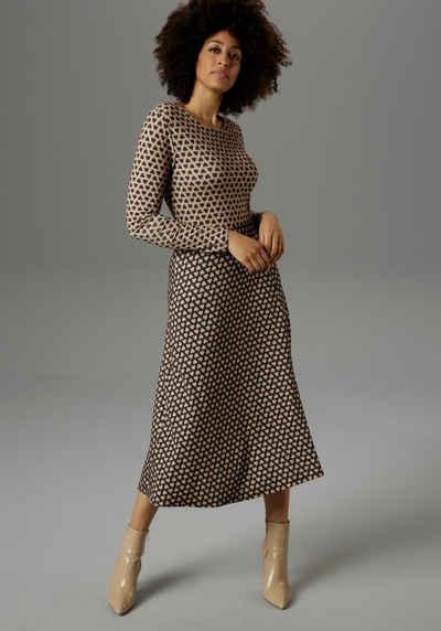 Aniston SELECTED Jerseykleid mit aufgedruckten Herzen - NEUE KOLLEKTION