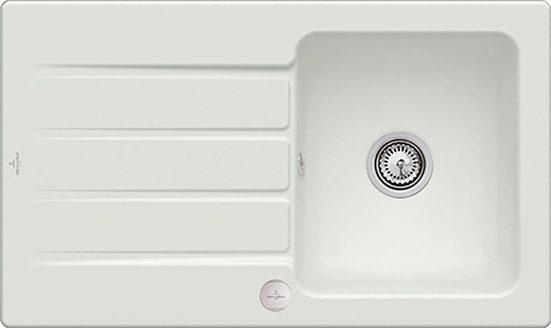 Villeroy & Boch Küchenspüle »Architectura 50«, rechteckig, 86/51 cm, aus Keramik, inkl. Ablaufgarnitur mit Excenterbetätigung, 860 x 510 mm