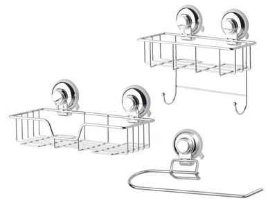 GSW Küchenorganizer-Set »HOOKIE System® 3-teilig«, (3-tlg), Befestigung mit intelligenten Saughaken